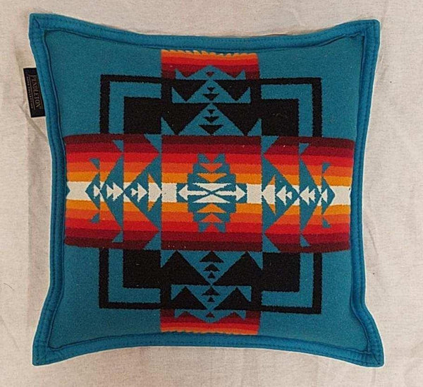 Pendleton® Pillow, Chief Joseph, Turquoise