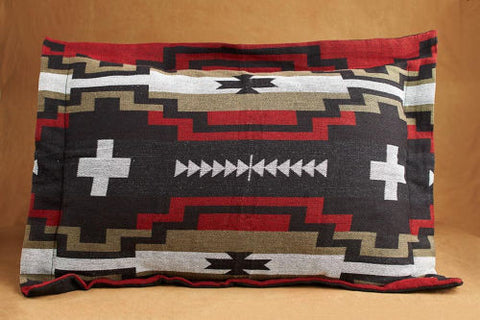 Pillow Sham, Tribal Art, Dark Brown