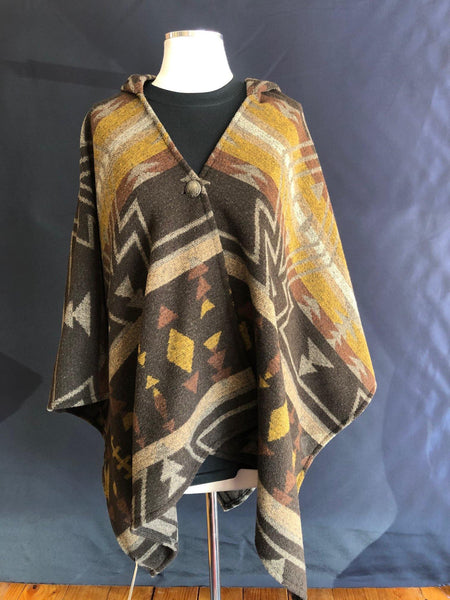 Kraff's Crystal Creek Hooded Poncho  TAN