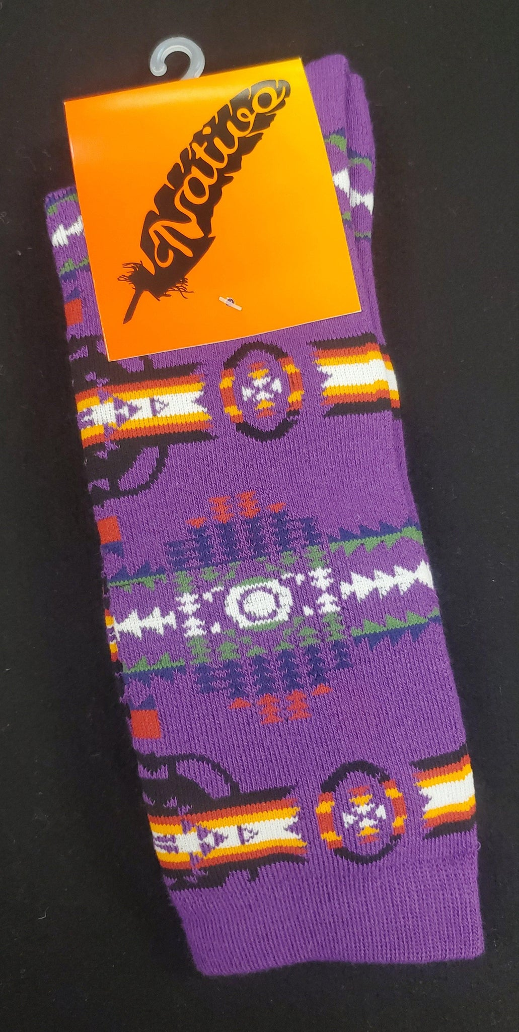 Native Style Dress Socks, Purple