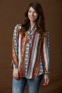Rancho Estancia Wellasco Henley Blouse