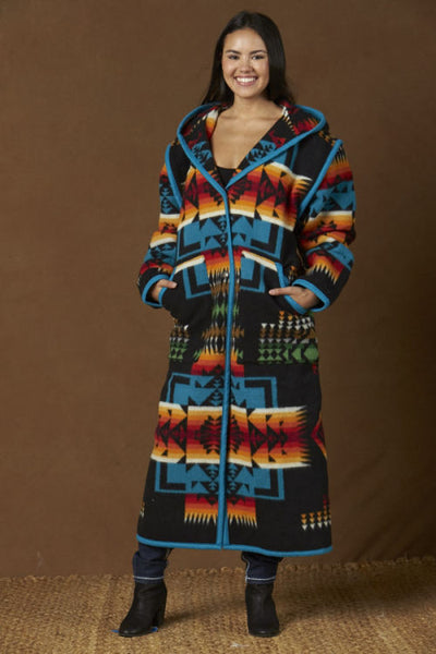Reversible Long Coat, Chief Joseph, Black_1