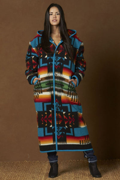 Reversible Long Coat, Chief Joseph, Black_2