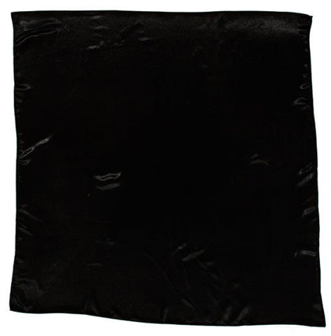 Sateen Regalia Scarf, Black