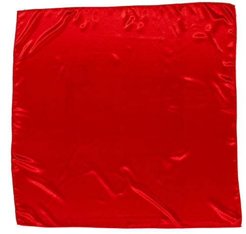 Sateen Regalia Scarf, Red