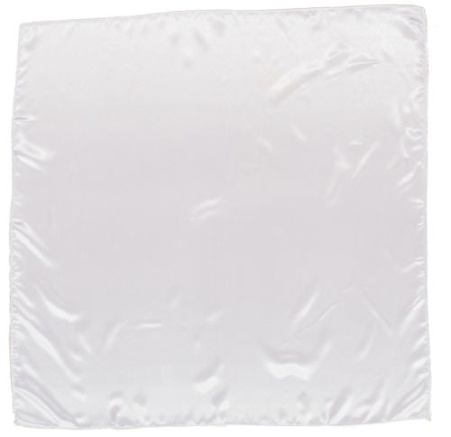 Sateen Regalia Scarf, White
