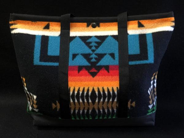 Shopping Bag, Chief Joseph, Black, Made with Pendleton® Fabric