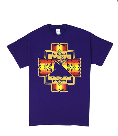 Native Style Tee, Purple