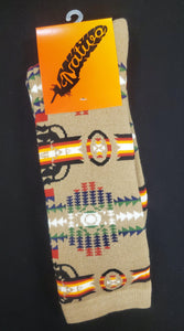 Native Style Dress Socks, Tan - Kraffs Clothing