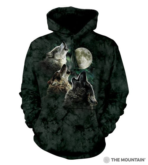The Mountain® Three Wolf Moon Unisex Hoodie Sweatshirt