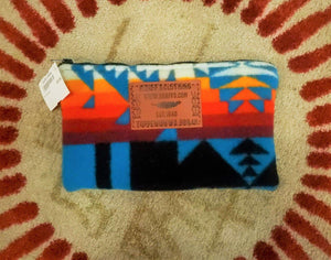 Kraff's Large Zipper Pouch, Chief Joseph Turquoise