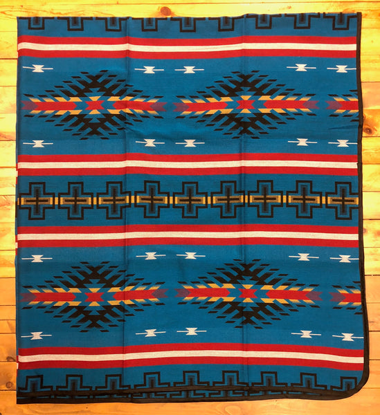 Southwest Tribal Inspired, Bedspread, Diamonds, Blue