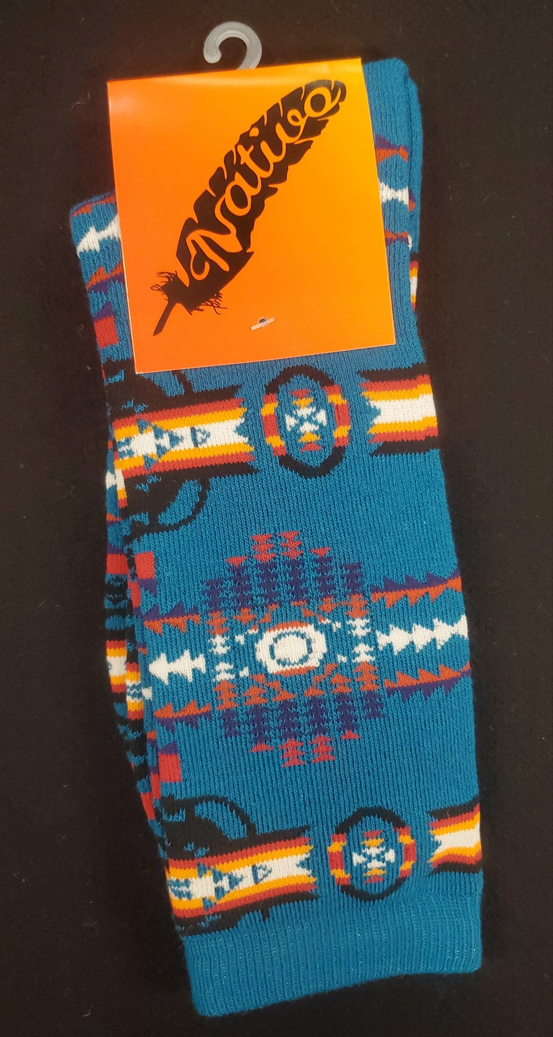 Native Style Dress Socks, Turquoise
