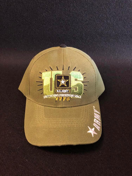 Cap, Army Green, Defending Freedom since 1775 - Kraffs Clothing