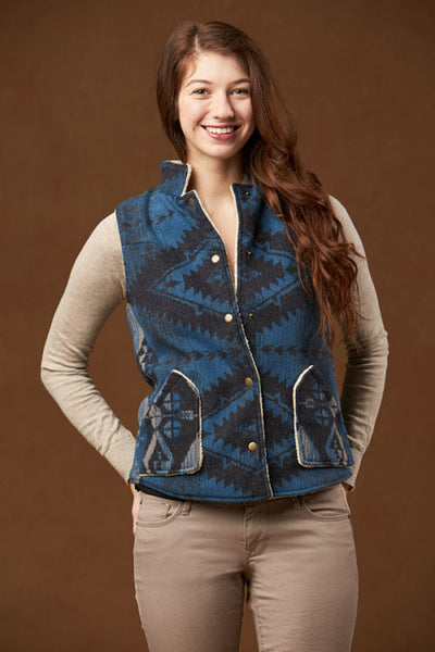 Upcountry Western Vest, Blue
