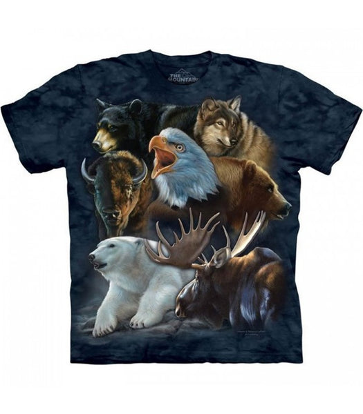 The Mountain® Wild Alaskan Collage Unisex Tee