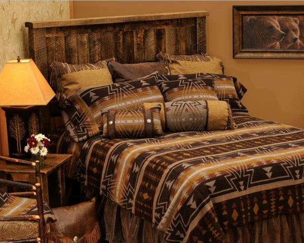 Wooded River Winnipeg Bedspread