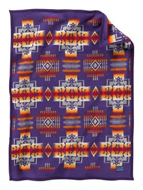Pendleton® Chief Joseph Baby Blanket Collection, Purple