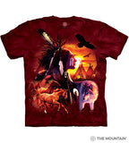 The Mountain Unisex Tee, Indian Collage