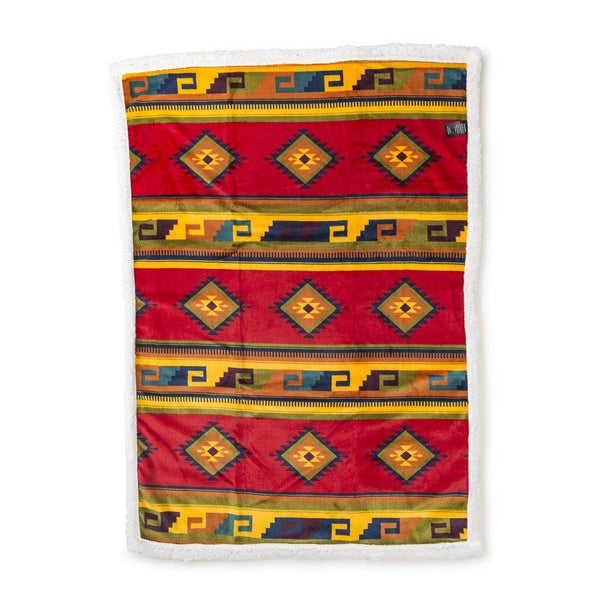 Aztec Soft Touch Blanket, Mountain Yellow