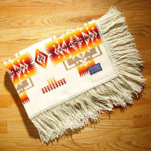 Pendleton® Chief Joseph Baby Blanket Shawl Collection Ivory