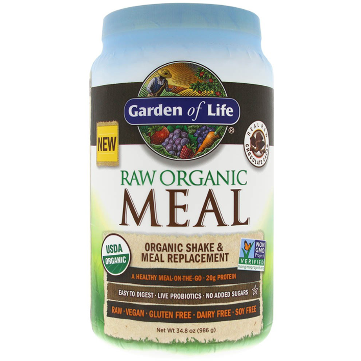 Raw Organic Meal, Shake & Meal Replacement, Chocolate - 986g
