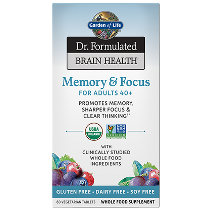 Dr Formulated - Brain Health - Memory & Focus Adults 40+