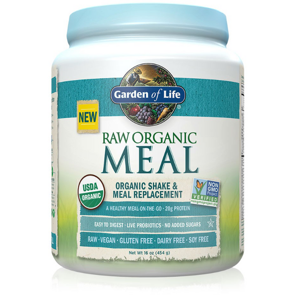 Raw Organic Meal, Shake & Meal Replacement, Natural - 475g Half Size