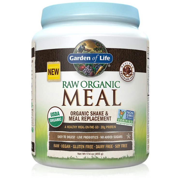raw organic meal half chocolate