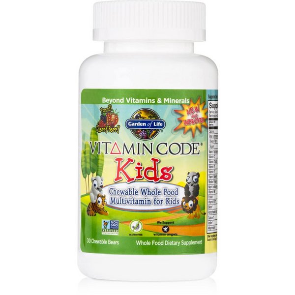Vitamin Code, Kids - 30 Chewable Whole Food Multivitamins for Kids