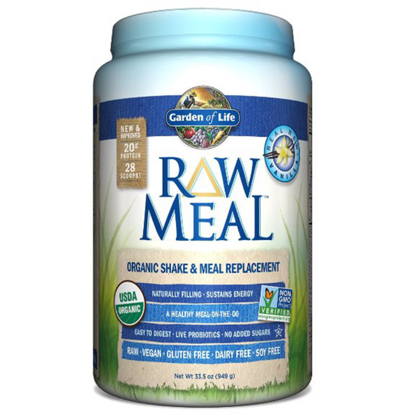 Raw Organic Meal, Shake & Meal Replacement, Vanilla - 969g