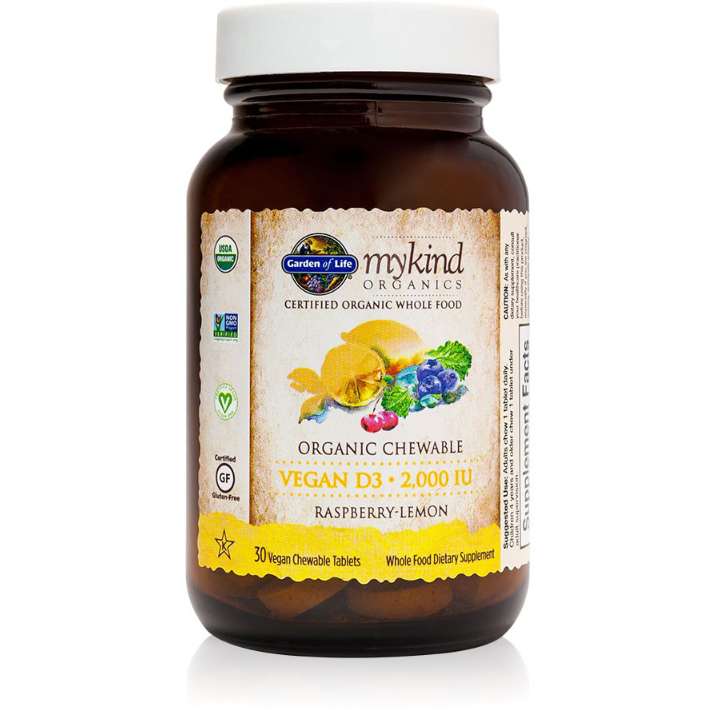 mykind Organics D3 Chewable Vegan  - 30