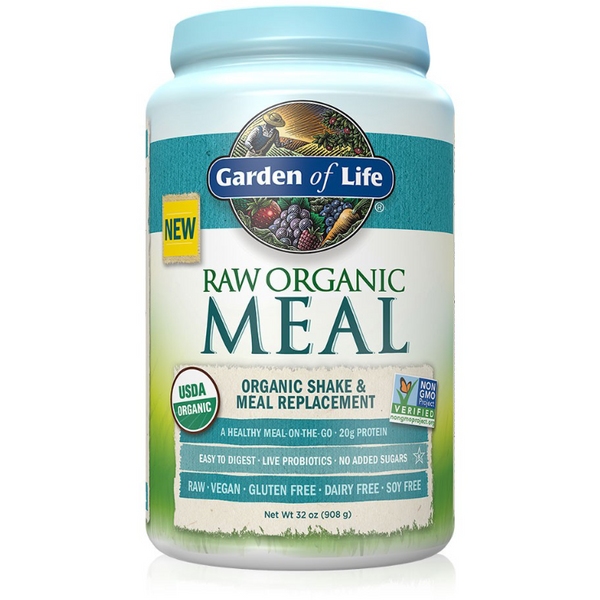 Raw Organic Meal, Shake & Meal Replacement, Natural Flavour - 1038g