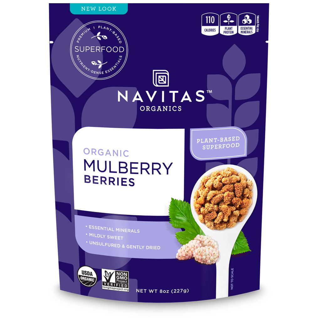 Sun-dried Raw White Mulberries/Mulberry - 227g