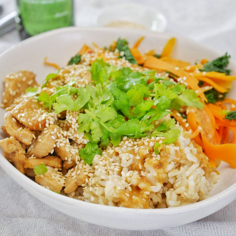 Satay Chicken Rice Bowl