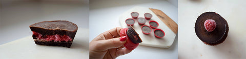 Dr Julie Bhosale's Raspberry Chocolate Coconut Cups