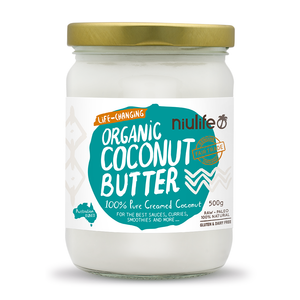 Coconut Butter - Creamed Coconut - 500g - Certified Organic