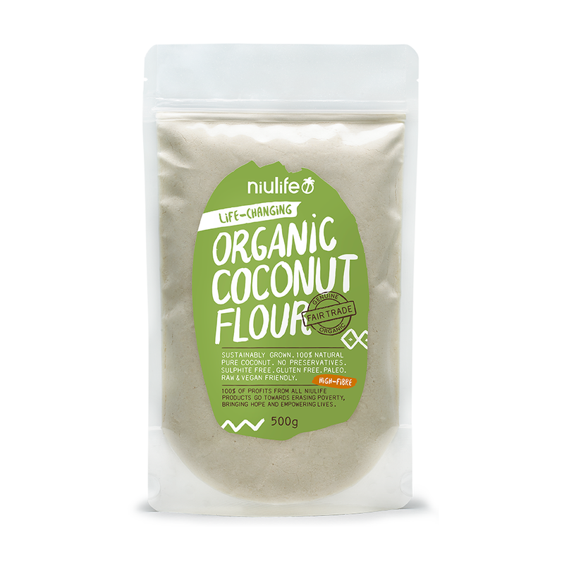 Coconut Flour - 500g Pouch - Certified Organic