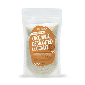 Desiccated Coconut - 250g Pouch - Certified Organic