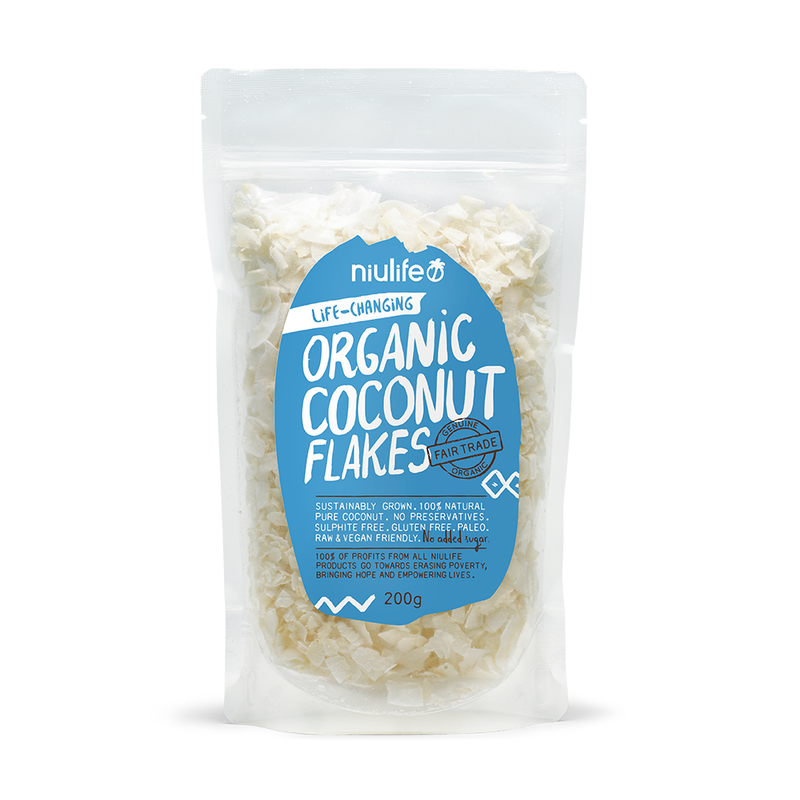 Flaked Coconut - 200g Pouch - Certified Organic