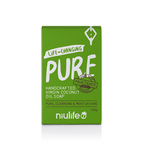 Pure - Virgin Coconut Oil Soap 100g - NASAA Approved Cosmetic