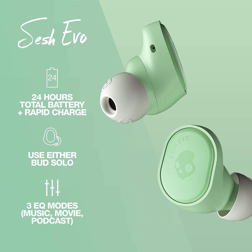 Audífonos Bluetooth True Wireless Skullcandy Sesh EVO - Pure Mint