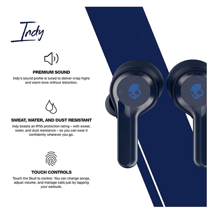 Audífonos Bluetooth True Wireless Skullcandy INDY - Indigo
