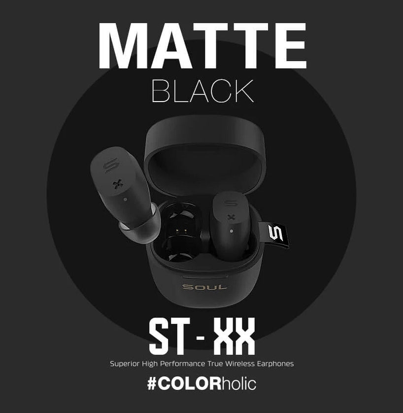 Audífonos Avanzados Bluetooth True Wireless Soul ST-XX - Matte Black