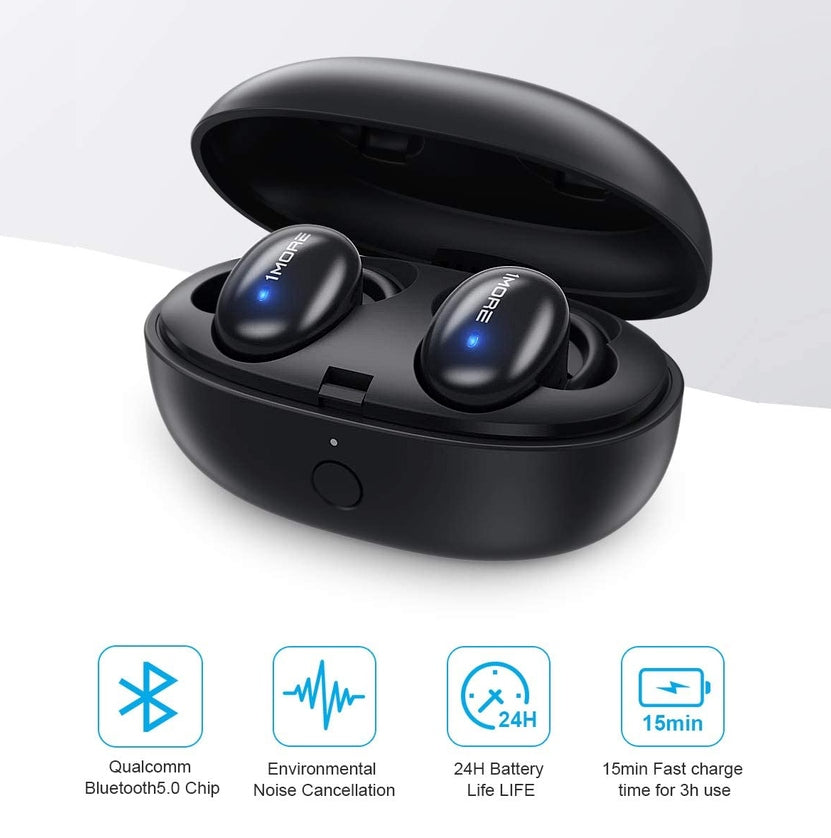 Audífonos Bluetooth True Wireless APTX 1More Stylish - Black
