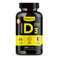 Vitamin D3 1000 IU (360 Softgels)
