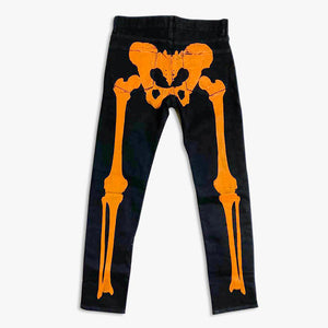 "Klan Life Clothing "" HALLOWEEN PRINTED DENIM BLACK """