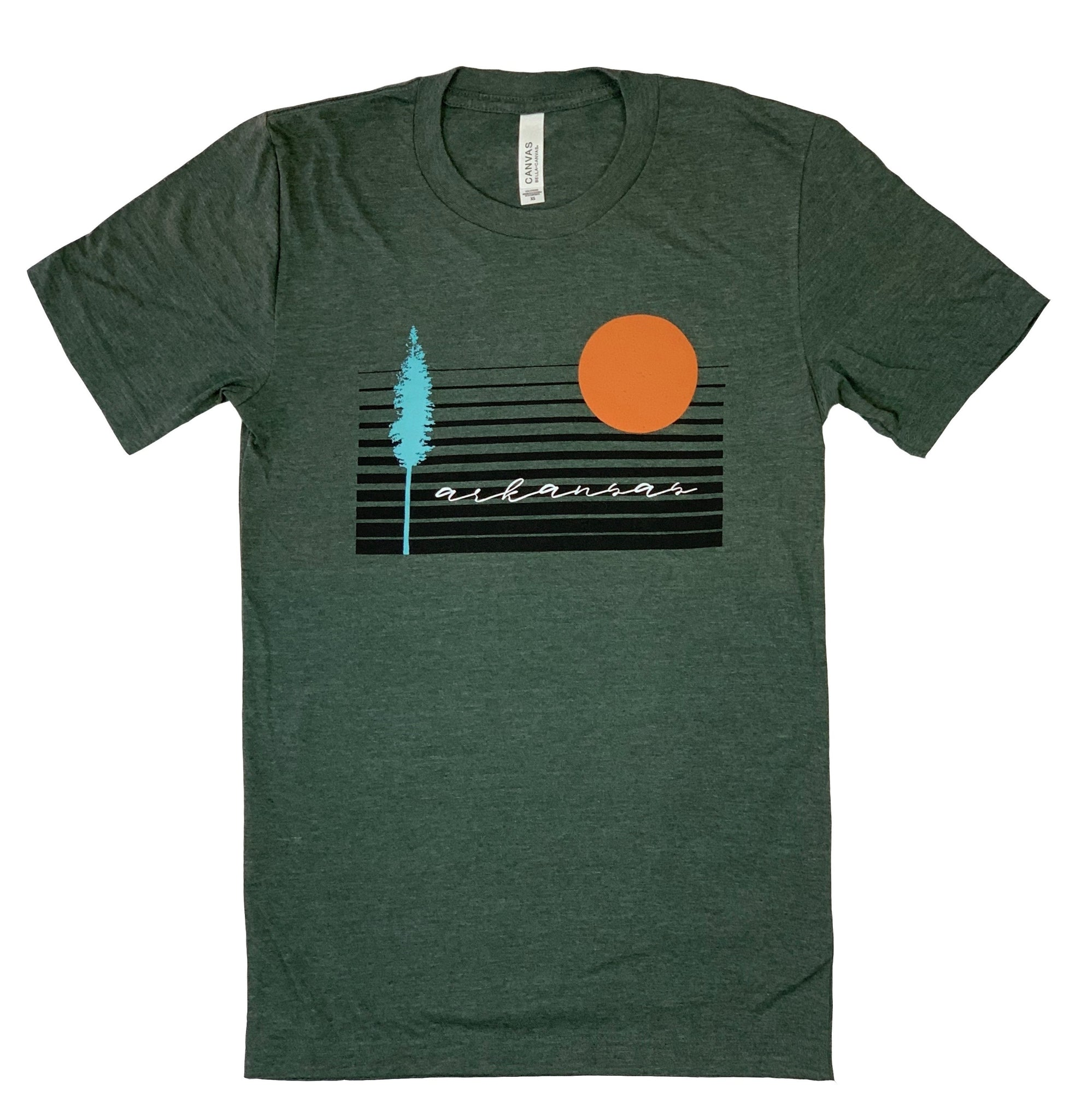 Retro Arkansas Unisex T-Shirt / Heather Forest Green