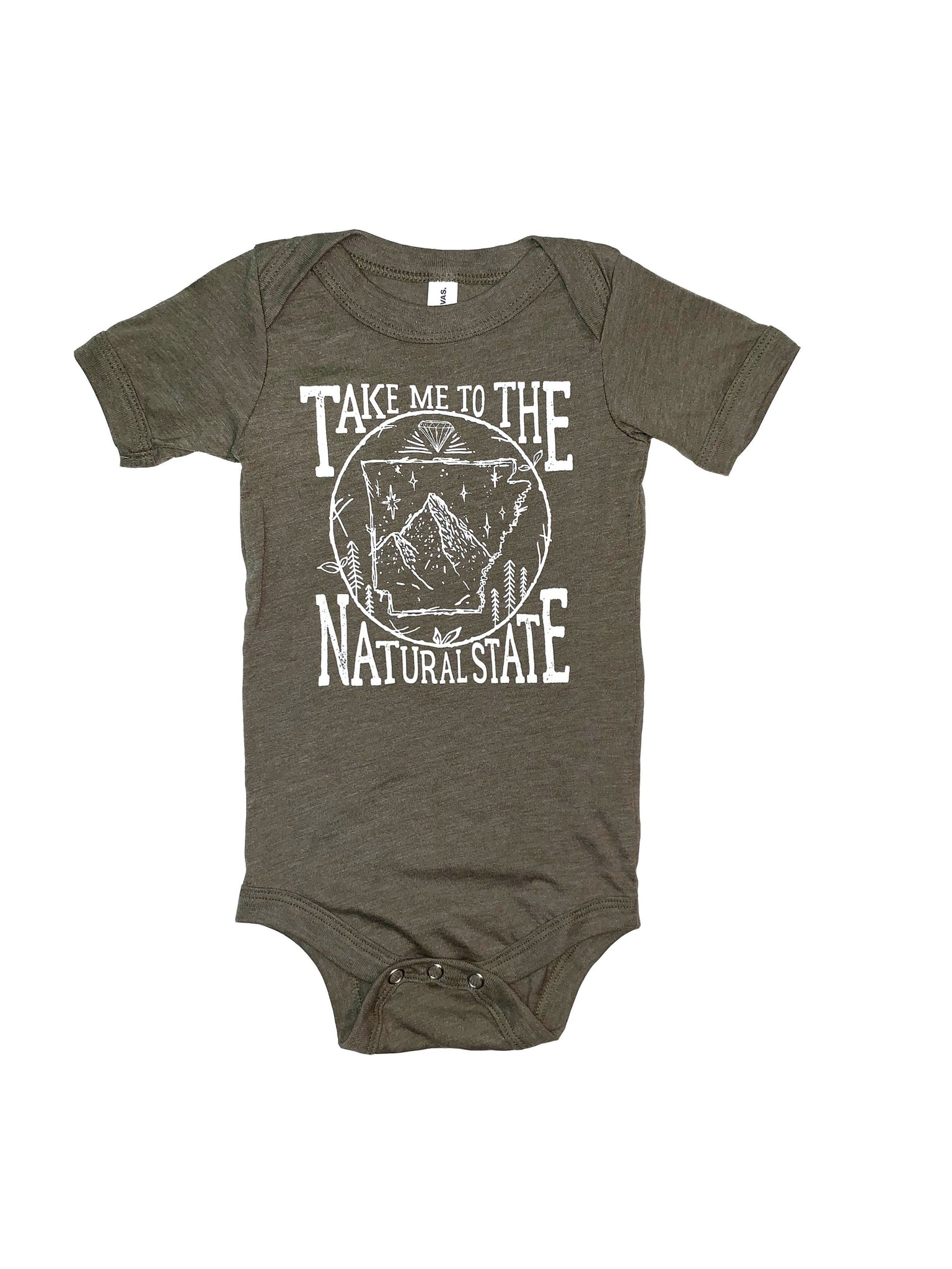 Take Me to the Natural State Baby Onesie