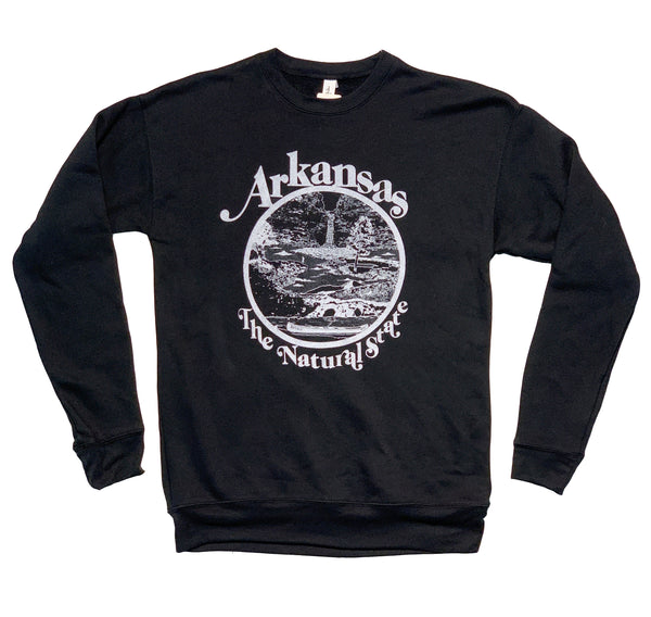 Arkansas Retro Natural State Sweatshirt